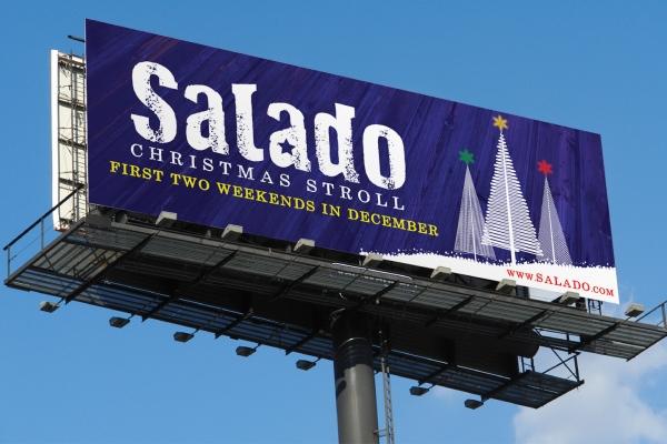 outdoor billboard design Salado Christmas