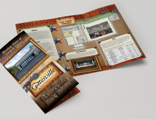 Brochure Design – Tri-fold – Gatesville Civic Center