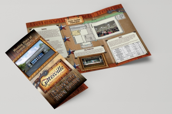 graphic design for GCC brochure